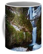 Multnomah Falls With Snow Coffee Mug