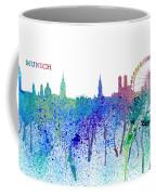 Munich Skyline Silhouette An Impressionistic Splash - Dream Cities Series Coffee Mug