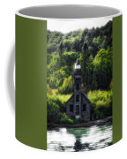 Munising Grand Island Lighthouse Upper Peninsula Michigan Vertical 01 Coffee Mug