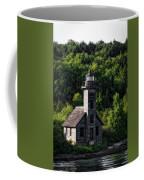 Munising Grand Island Lighthouse Upper Peninsula Michigan Vertical 02 Coffee Mug
