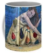 Mural Of A Woman In A Fruit Dress Coffee Mug