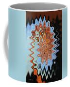 Mushroom In The Woods Abstract Coffee Mug