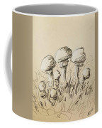 Mushrooms On Toned Paper With Charcoal Coffee Mug