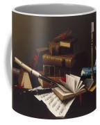 Music And Literature By William Michael Harnett Coffee Mug