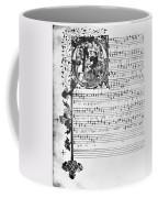 Music Manuscript, 1450 Coffee Mug