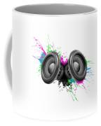 Music Speakers Colorful Design Coffee Mug