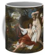 Musidora And Her Two Companions Sacharissa And Amoret At Their Bath Espied By Damon Coffee Mug