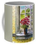 Musing-gerberas At The Window Coffee Mug
