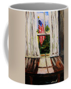 Musing-glory Through The Window Coffee Mug