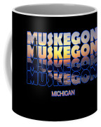 Muskegon Channel Sunset Coffee Mug