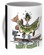 Musky Hunter - Cartoon Coffee Mug by Peter McCoy