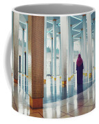 Muslim Woman Dressed In The Traditional Islam Clothing Standing Inside National Mosque In Malaysia Coffee Mug
