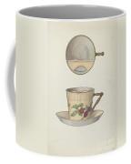 Mustache Cup And Saucer Coffee Mug