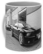 Mustang Alley In Black And White Coffee Mug by Gill Billington