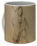 Mustang Morning - Grey Version Coffee Mug by Jani Freimann