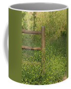 Mustard Grass And Fence At Entrance To Peters Canyon Coffee Mug