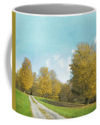 Mustard Yellow Trees And Landscape Coffee Mug