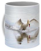 Mute Swan Landing I Coffee Mug