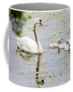 Mute Swan With Cygnets Coffee Mug