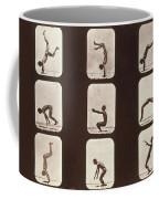 Muybridge Locomotion Back Hand Spring Coffee Mug by Photo Researchers