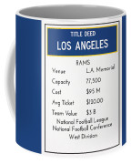 My Nfl Los Angeles Rams Monopoly Card Coffee Mug