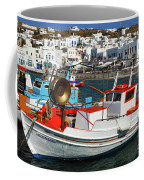 Mykonos Greece Fishing Boats Coffee Mug
