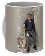 Mykonos Man With Walking Stick Coffee Mug