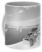 Mylor Quay In Cornwall Monochrome Coffee Mug