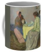 Myron G. Barlow 1873 - 1937 Dutch Women Drinking Coffee Coffee Mug
