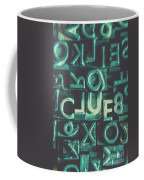 Mystery Writer Clue Coffee Mug