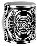 Mystical Eye - Abstract Black And White Graphic Drawing Coffee Mug