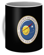 N A S A Emblem Over Black Velvet Coffee Mug