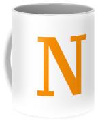 N In Tangerine Typewriter Style Coffee Mug