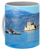 Naflion Greece Harbor Fortress Coffee Mug