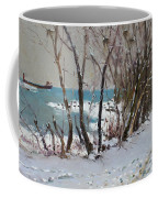 Naked Trees By The Lake Shore Coffee Mug