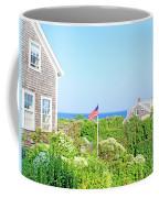 Nantucket Cottages Overlooking The Sea Coffee Mug
