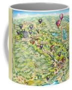 Napa Valley Illustrated Map Coffee Mug