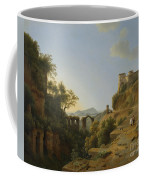 Naples Gulf With The Backdrop Of The Island Of Ischia  Coffee Mug