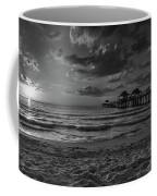 Naples Pier Bw  Coffee Mug