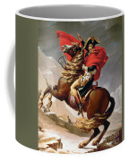 Napoleon Crossing The Alps Coffee Mug by Jacques Louis David