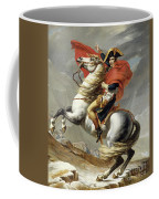 Napoleon Crossing The Alps, Jacques Louis David, From The Original Version Of This Painting  Coffee Mug