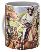 Napoleon Making A Narrow Escape With An Austrian Cavalry Patrol Close On His Heels Coffee Mug