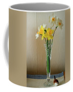 Narcissus In Glass Vase Coffee Mug