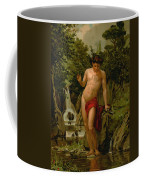 Narcissus In Love With His Own Reflection Coffee Mug by Dionisio Baixeras-Verdaguer