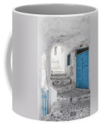 Narrow Alley And Stairway On Santorini Coffee Mug