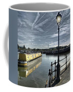 Narrowboat Idly Dan At Barton Marina On Coffee Mug