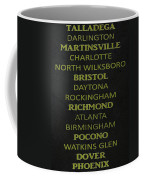 Nascar Track List Coffee Mug