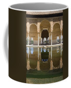 Nasrid Palace Arches Reflection At The Alhambra Granada Coffee Mug