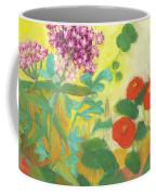 Nasturtiums, Rose Milkweed And Rue Coffee Mug