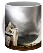 Nasty Looking Cumulonimbus Cloud Behind Grain Elevator Coffee Mug